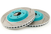 PROJECT MU SLOTTED FRONT ROTORS, 13-15 HONDA CIVIC R18