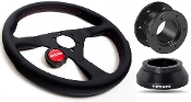 MOMO MONTE CARLO 320MM STEERING WHEEL KIT, 12-15 HONDA CIVIC