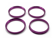 FKX RACING FORGED ALUMINUM HUB-CENTRIC RING PURPLE 64.1MM HONDA