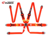 CUSCO 6 POINT FIA RACING SEAT-BELT HARNESS (RED) HANS DEVICE