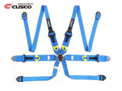 CUSCO 6 POINT FIA RACING SEAT-BELT HARNESS (BLUE) HANS DEVICE