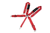 MEGAN RACING 5 POINT FIA SEAT-BELT HARNESS (RED)