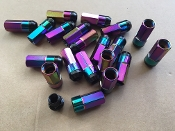 FKX RACING ST50 SHELL-TYPE LUG LOCK NUTS (NEO CHROME ) 12X1.5