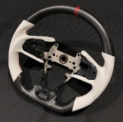FKX RACING DRY CARBON FIBER STEERING WHEEL (WHITE) 16-20 CIVIC