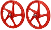 FACECARD BMX PRO-MAGS OLD SCHOOL WHEELS (RED)