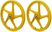 FACECARD BMX PRO-MAGS OLD SCHOOL WHEELS (YELLOW)